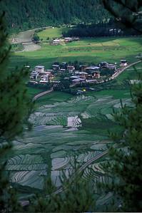 The Royal compound outside Thimpu, Bhutan.