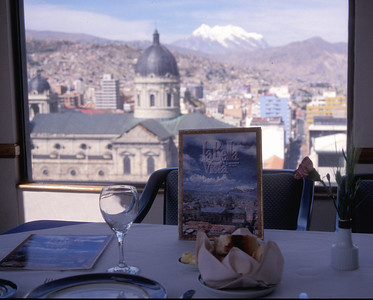 La Bella Vista restaurant, with nice view, La Paz, Bolivia.