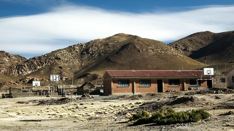 School in Mountaneous Desert