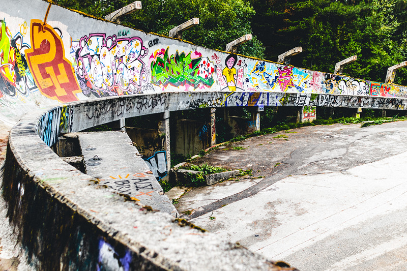 Abandoned Olympic Bobsleigh Track