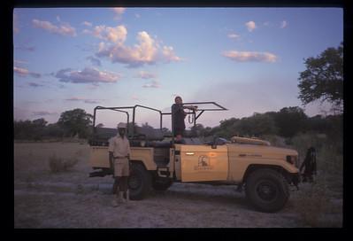 Safari vehicle, Okavango delta region of Botswana.