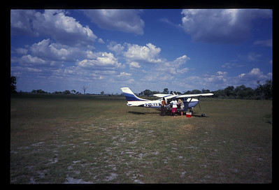 "Charter on ""air strip,"" Okavango delta region of Botswana."