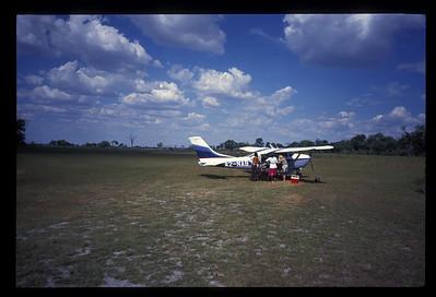 "Charter on ""air strip,"" Okavango delta region of Botswana."