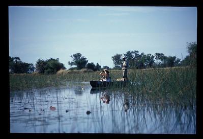 Makoro canoe, Okavango delta region of Botswana.