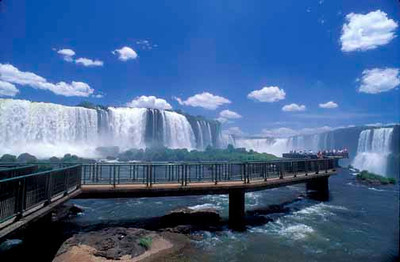 Lookout point on the Brazil side of Iguazu Falls.