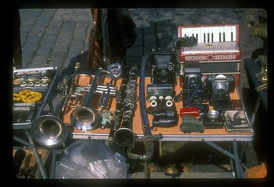 Fire sale after the collapse of Communism. Flea Market, Sophia, Bulgaria.