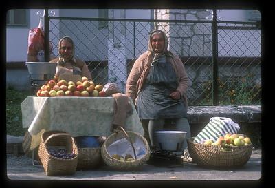 Fruit stand, Sofia, Bulgaria.