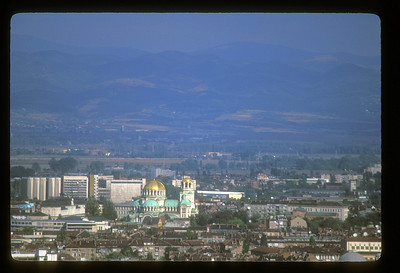 Long view over Sofia, Bulgaria.