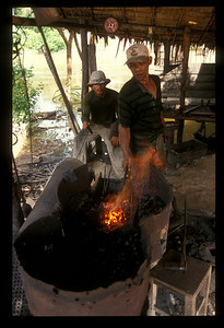 Metal shop outside Siem Reap, Cambodia.