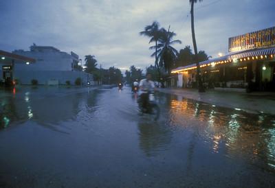 Flooding, Phnom Penh, Cambodia.