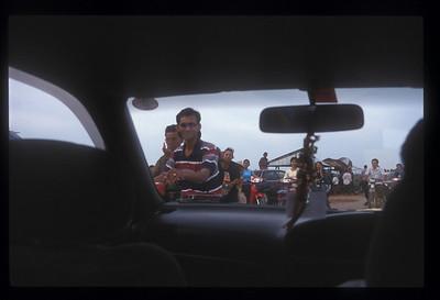 Road along the shore of Lake Tonle Sap, Cambodia.