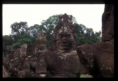 Carvings, Angkor Wat, Cambodia.