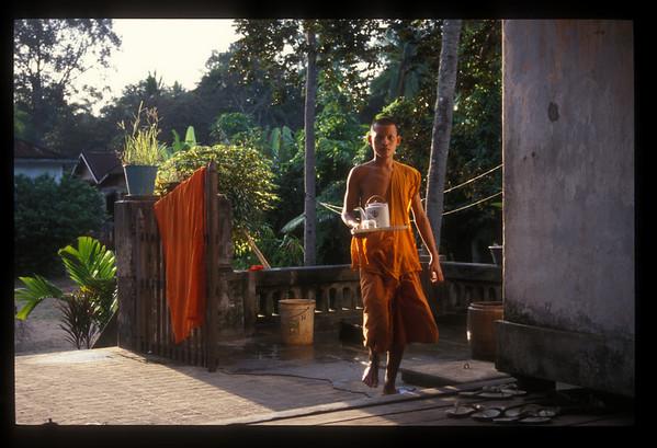 Morning tea, monastery, Angkor Wat, Cambodia.