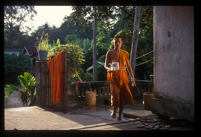 Morning tea, monastery, Angkor Wat, Cambodia.