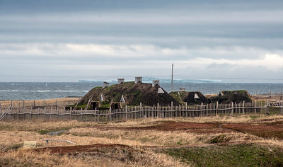 The recreated Norse settlement at L'Anse aux Meadows, Newfoundland, Canada.