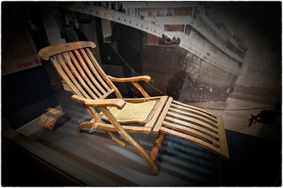 You've heard about them. Now see one! Here is a deck chair on the Titanic, from the Maritime Museum, Halifax, Nova Scotia, Canada.