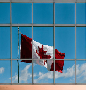 The Canadian flag, Halifax, Nova Scotia.