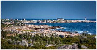 Peggy's Cove, Nova Scotia, Canada HDR on Canvas.