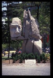 Statue, Plaza de Armas, Santiago, Chile.