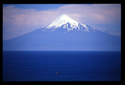 Llanquihue Lake and Mt. Osorno, the lakes region of Chile.