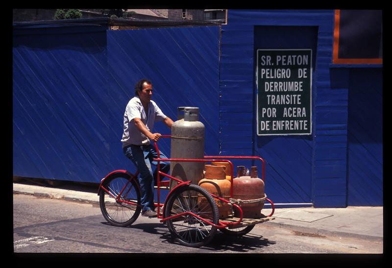 Local transport, Santiago, Chile.
