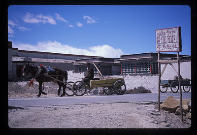Man outside Amdo Hotel, Tinggri, Tibet.