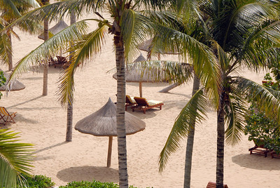 Beach resort near Sanya, Hainan Island, China.