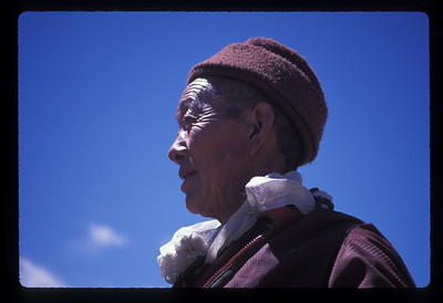 Man in Tinggri, Tibet.