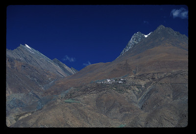 Mountain village, rural Tibet.