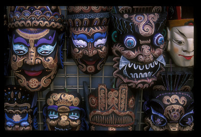 Masks for sale near the Temple of Heaven, Beijing, China.