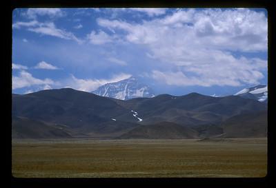 Mt. Everest from rural Tibet.