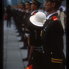 Woman amid soldiers at ceremony to incorporate Hong Kong into China. Tiananmen Square, Beijing, China, July, 1997.