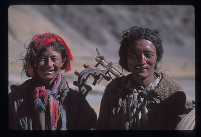 Tibetan nomad musicians.