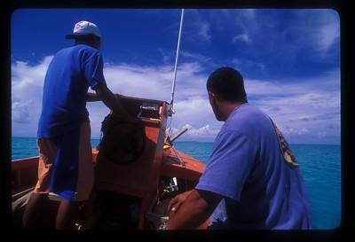 Boat ride near Aitutaki, Cook Islands.