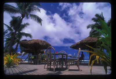 Outdoor terrace, Rarotonga, Cook Islands.