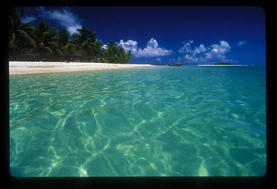Motu, or islet near Aitutaki, Cook Islands.