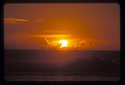 Beach sunset, Rarotonga, Cook Islands.