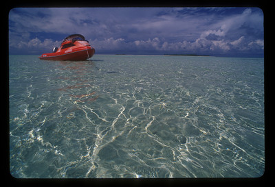 Shallow water off Aitutaki, Cook Islands.
