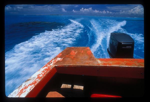 Boat ride off Aitutaki, Cook Islands.