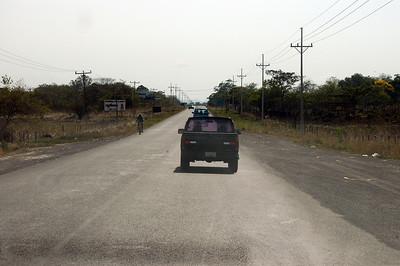 Traffic in rural Guanacaste, Costa Rica.