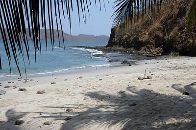 The beach at Playa del Coco, Costa Rica.