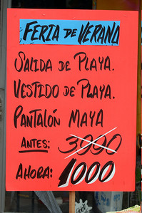 Clothing sale advertisement, Costa Rica.