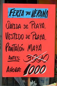 Clothing sale advertisement, Costa Rica.