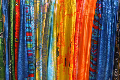 Scarves in the market, Costa Rica.