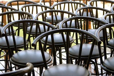 Bar stools, Playa del Coco, Costa Rica.