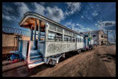 Antique Train #2, Havana, Cuba - HDR.