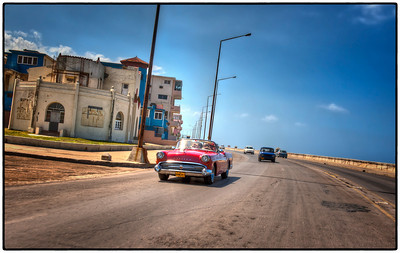 A drive along the Malecón, Havana, Cuba - HDR.