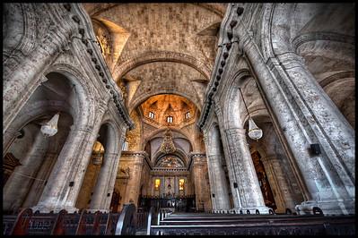 Interior of Inside the Catedral de la Virgen María de la Concepción Inmaculada de La Habana, Havana, Cuba - HDR