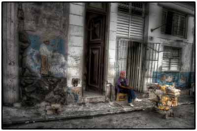 A Man and His Cart, Havana, Cuba - HDR.