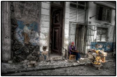 A Man and His Cart, Havana, Cuba - HDR.